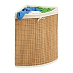 Honey-Can-Do® Wicker Corner Hamper