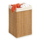 Honey-Can-Do Square Wicker Bamboo Hamper with Liner
