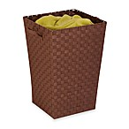 Honey-Can-Do Double-Woven Hamper in Java Brown