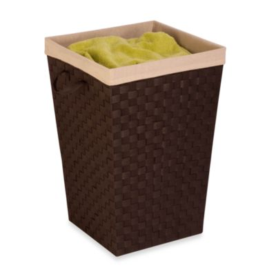 Honey-Can-Do® Double Woven Hamper with Liner in Espresso Brown