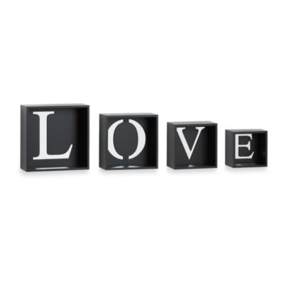 "4-Piece Set of ""LOVE"" Cubes"