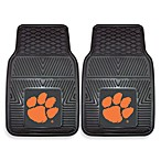 Clemson University Heavy Duty 2-Piece Vinyl Car Mat Set