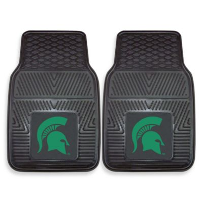 Michigan State University Heavy Duty 2-Piece Vinyl Car Mat Set