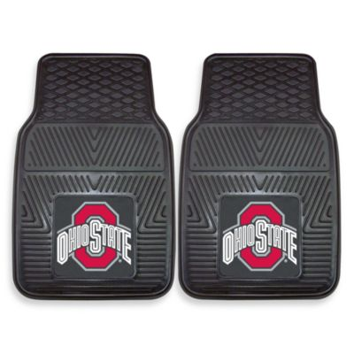 Ohio State University Heavy Duty 2-Piece Vinyl Car Mat Set