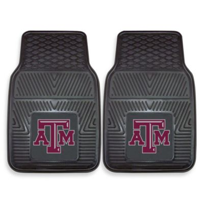 Texas A&M University Heavy Duty 2-Piece Vinyl Car Mat Set
