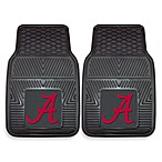 University of Alabama Heavy Duty 2-Piece Vinyl Car Mat Set