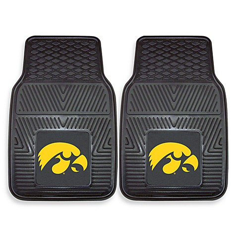 University of Iowa Heavy Duty 2-Piece Vinyl Car Mat Set