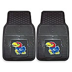 University of Kansas Heavy Duty 2-Piece Vinyl Car Mat Set