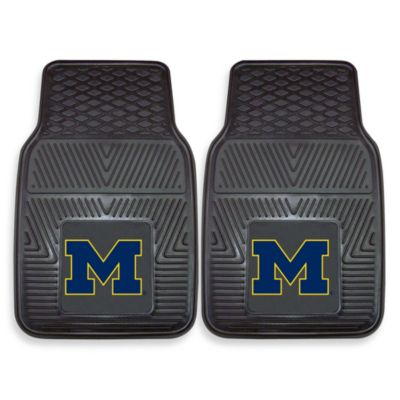 University of Michigan Heavy Duty 2-Piece Vinyl Car Mat Set
