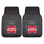 University of Nebraska Heavy Duty 2-Piece Vinyl Car Mat Set
