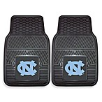 University of North Carolina Heavy Duty 2-Piece Vinyl Car Mat Set
