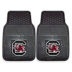 University of South Carolina Heavy Duty 2-Piece Vinyl Car Mat Set