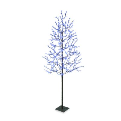 Sterling at Home 7.5-Foot LED Blossom Trees with Brown Trunk