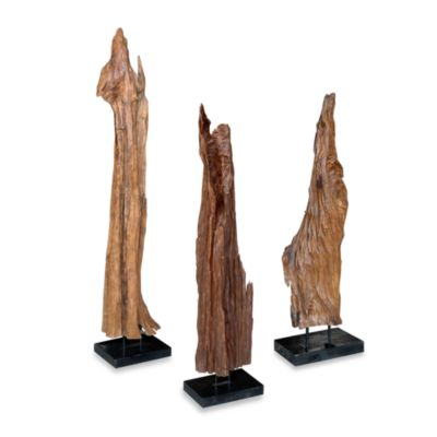 Jeffan International Medium Tall Root Wood in Natural