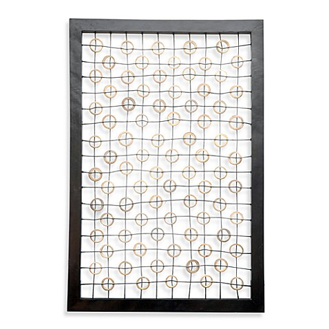 Jeffan International Carlotta Bamboo Circles Deco Wall Panel