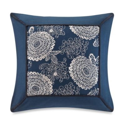 Artology Sashiko Square Decorative Pillow in Indigo