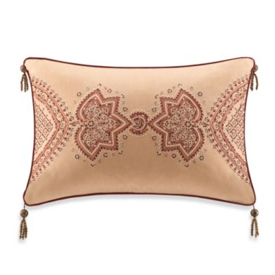 Artology Sari Gold Oblong Toss Pillow