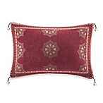 Artology Sari Gold Oblong Toss Pillow with Tassels