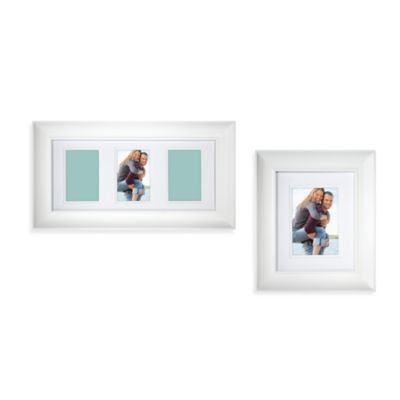 Wall Scoop-Style 8-Inch x 10-Inch Photo Frame in White
