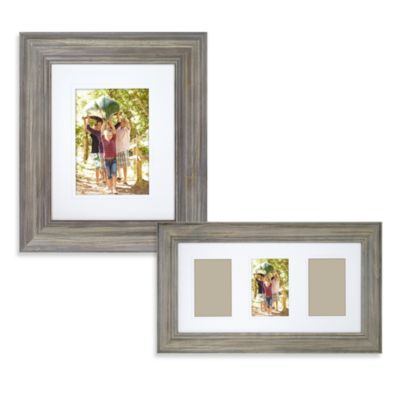 Weathered Gray 8-Inch x 10-Inch Wall Frame in Weathered Grey