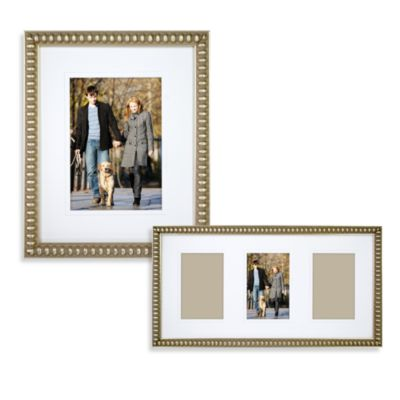 Thin Bead 8-Inch x 10-Inch Wall Frame in Gold