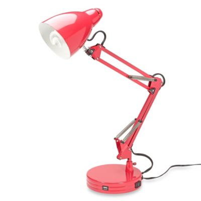 Studio 3B™ Architect's USB Desk Lamp in Pink