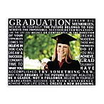 Graduation Typography 4-Inch x 6-Inch Photo Frame