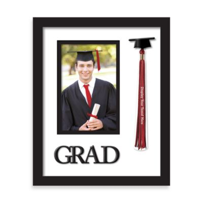 Grad and Tassel 4-Inch x 6-Inch Graduation Photo Frame