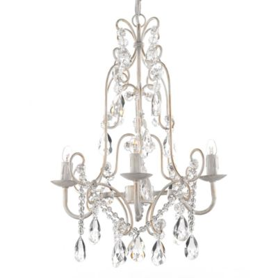 Gallery 4-Light Wrought Iron and Crystal Chandelier