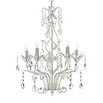 Gallery 5-Light Wrought Iron and Crystal Chandelier