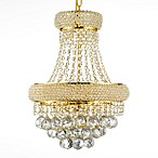 Gallery Empire 3-Light Crystal Two-Tier Chandelier
