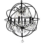 Gallery 6-Light Wrought Iron Crystal Orb Chandelier
