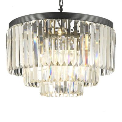 Gallery 9-Light Odeon All-Crystal 3-Tier Chandelier