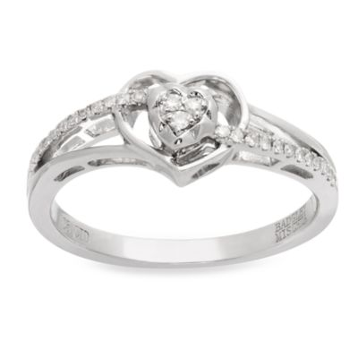 Badgley Mischka® .10 cttwDiamond Romantics Promise Ring