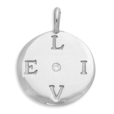 emma&me forever™ Sterling Silver and Diamond LIVE Mini Disc Charm