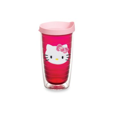 Tervis Hello Kitty Wrap 16-Ounce Tumbler in Ruby with Pink Lid