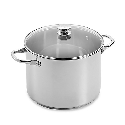 Wolfgang Puck 10-Quart Stainless Steel Covered Stockpot