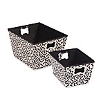 Richards Homewares Taupe Pet Totes with Black Bone Print