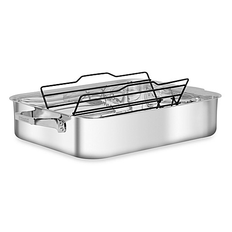 Zwilling J.A. Henckels TruClad 16-Inch Roaster with Adjustable Nonstick Rack