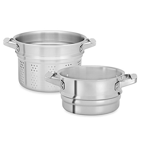 Zwilling J.A. Henckels TruClad Stainless Steel Steamer and Pasta Inserts