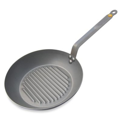 de Buyer Mineral B 10.2-Inch Grill Pan