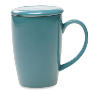 Certified International Turquoise Infuser Tea Mug