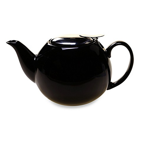 Black Ceramic 24-Ounce Teapot Infuser