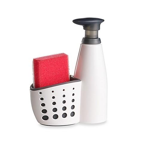 Sink Soap Dispenser With Sponge Holder And Sponge Bed