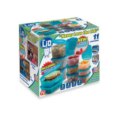 "Mr. Lid ""Never Lose the Lid"" 11-Piece Food Storage Container Set"