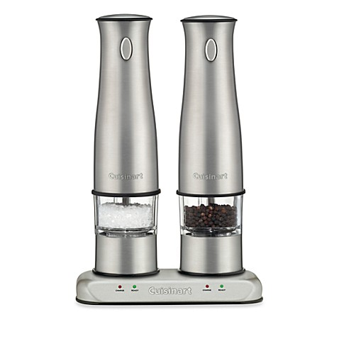 cuisinart rechargeable electric salt and pepper mill set bed bath beyond. Black Bedroom Furniture Sets. Home Design Ideas