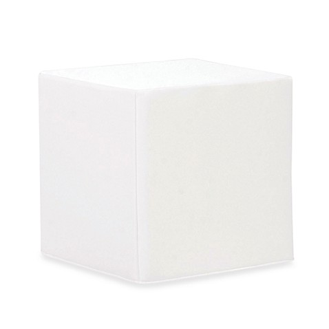 Howard Elliott® Patio No-Tip Block Ottoman in White Marine Vinyl