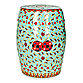 Safavieh Red and Green Chinese Floral Stool