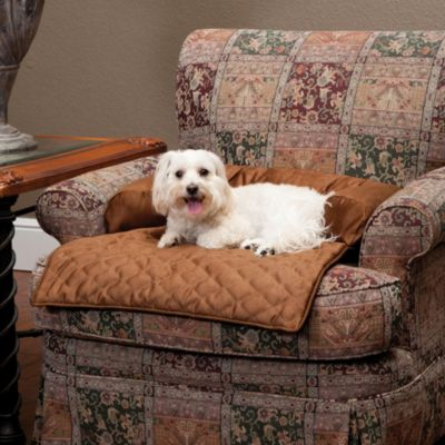 Sta-Put™ Medium Bolstered Furniture Protector For Pets in Cocoa