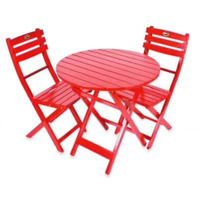 3-Piece Red Bistro Set